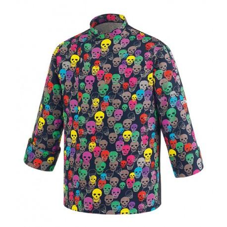 Color Skulls giacca cuoco Egochef