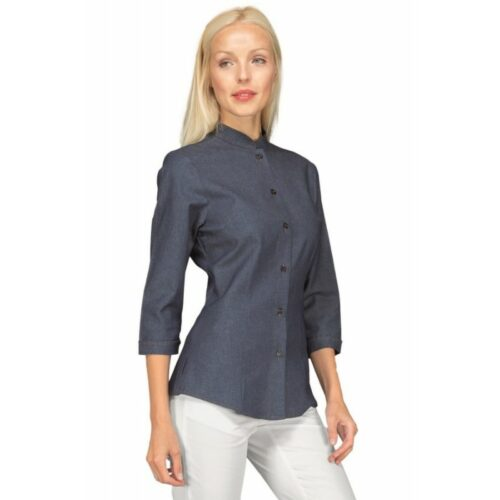 Camicetta Hollywood jeans blu manica tre quarti Isacco