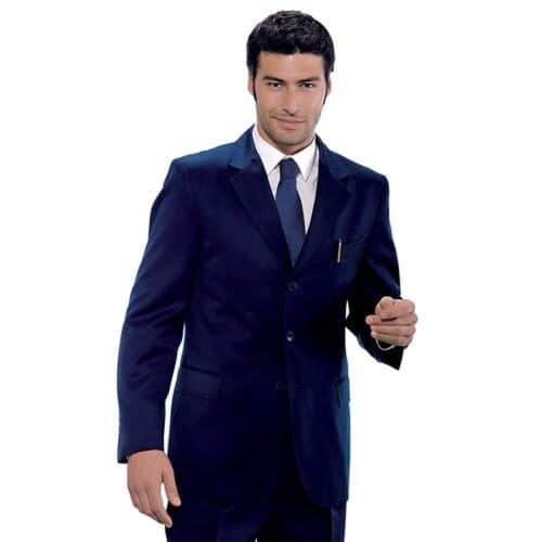 Giacca Fresco lana foderata blu Isacco