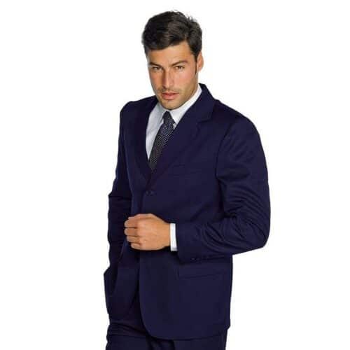 Giacca stretch lana foderata blu Isacco