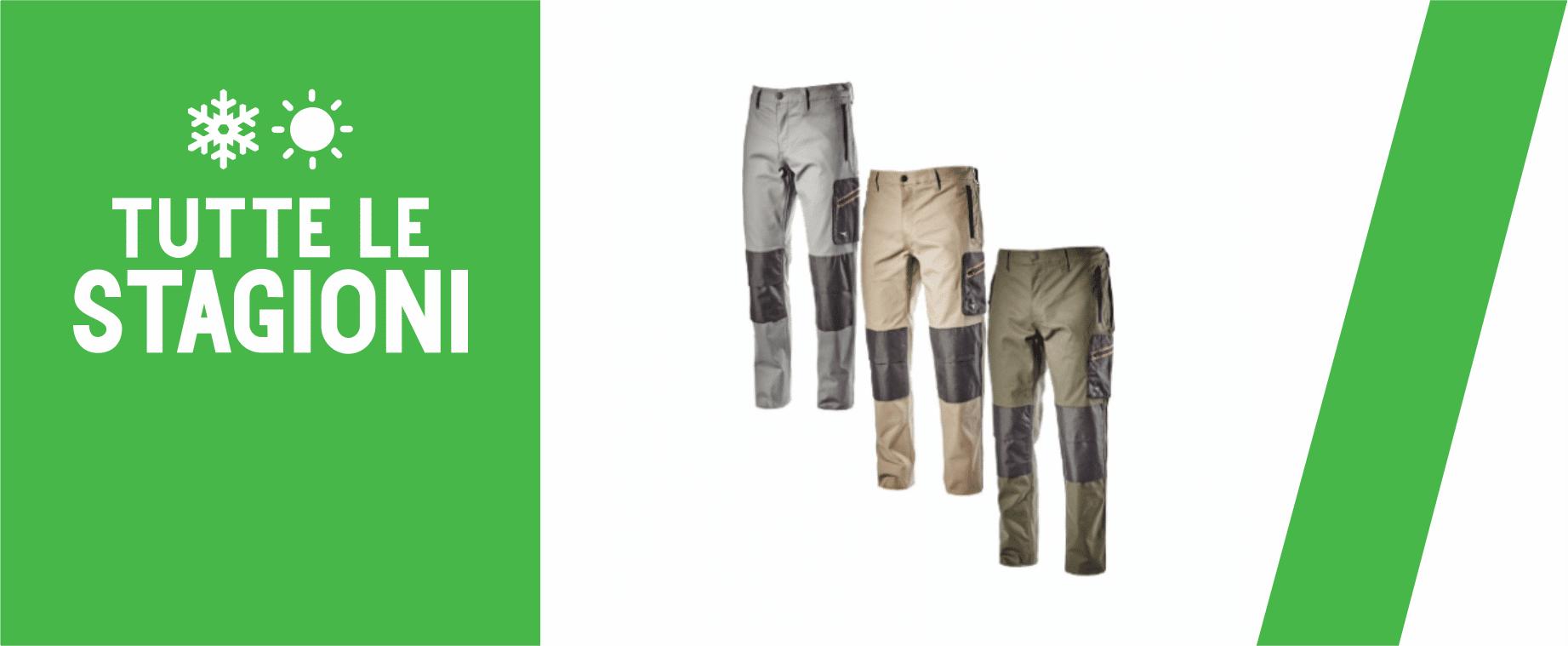 Pantaloni da lavoro per tutte le stagioni