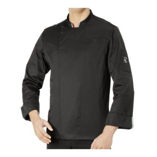 Gianluigi giacca cuoco nera tricolore