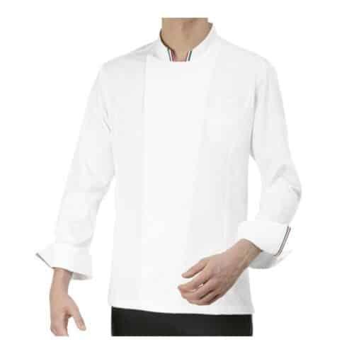 gianluigi giacca cuoco bianca con tricolore Giblor's