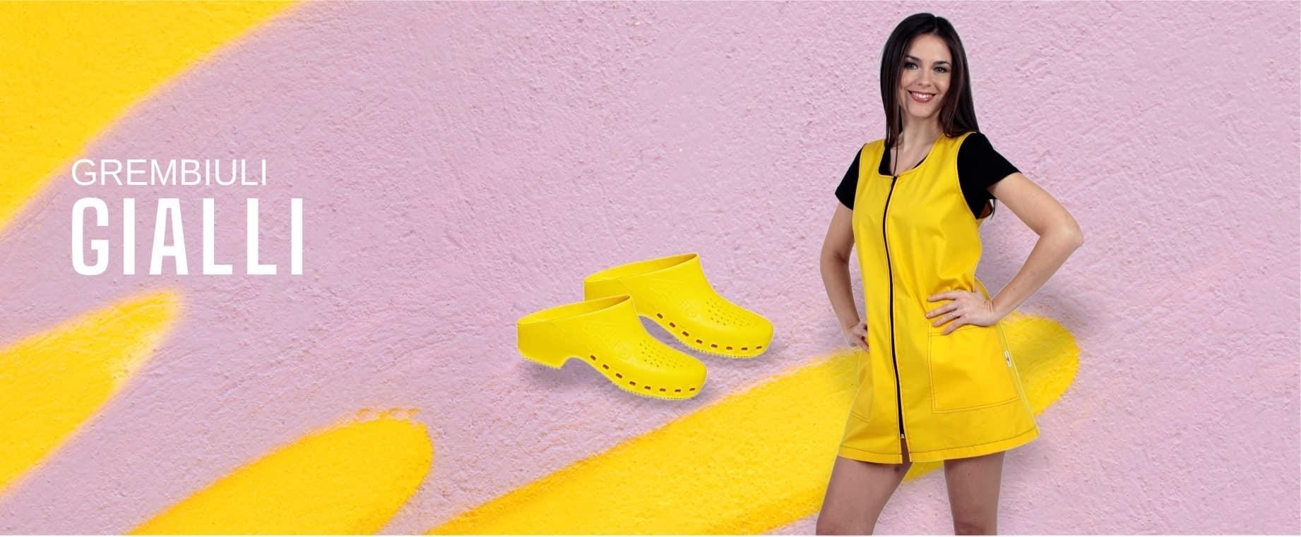 Grembiuli maestra giallo