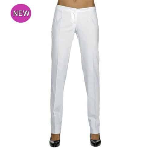 Pantaloni donna slim cotone bianco Isacco